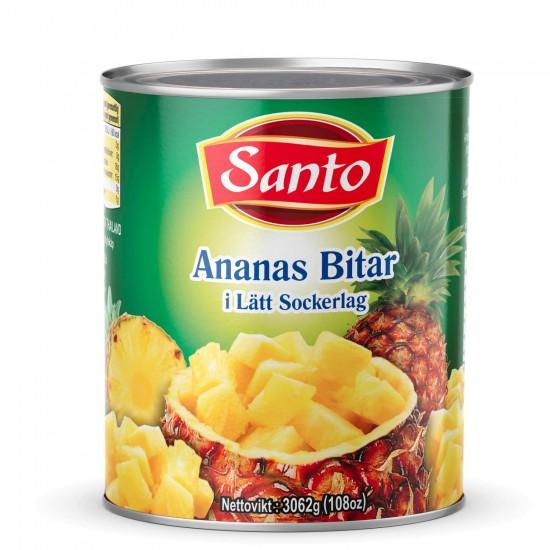Ananas Bitar Santo 3035gr
