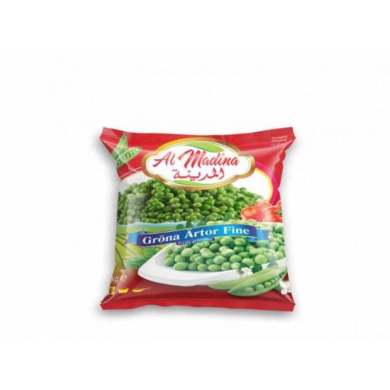Al Madina frysta gröna ärtor 1kg